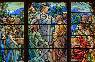 Tiffany Glass Company, American (1885-1892). Designed by Frederick Wilson (American,born Ireland, 1858-1932). Christ and the Apostles , ca. 1890.