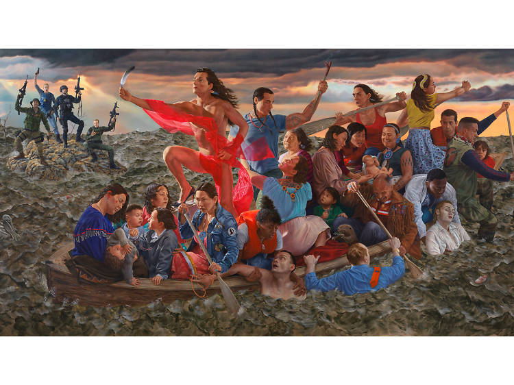 """The Great Hall Commission: Kent Monkman, mistikôsiwak (Wooden Boat People)"""