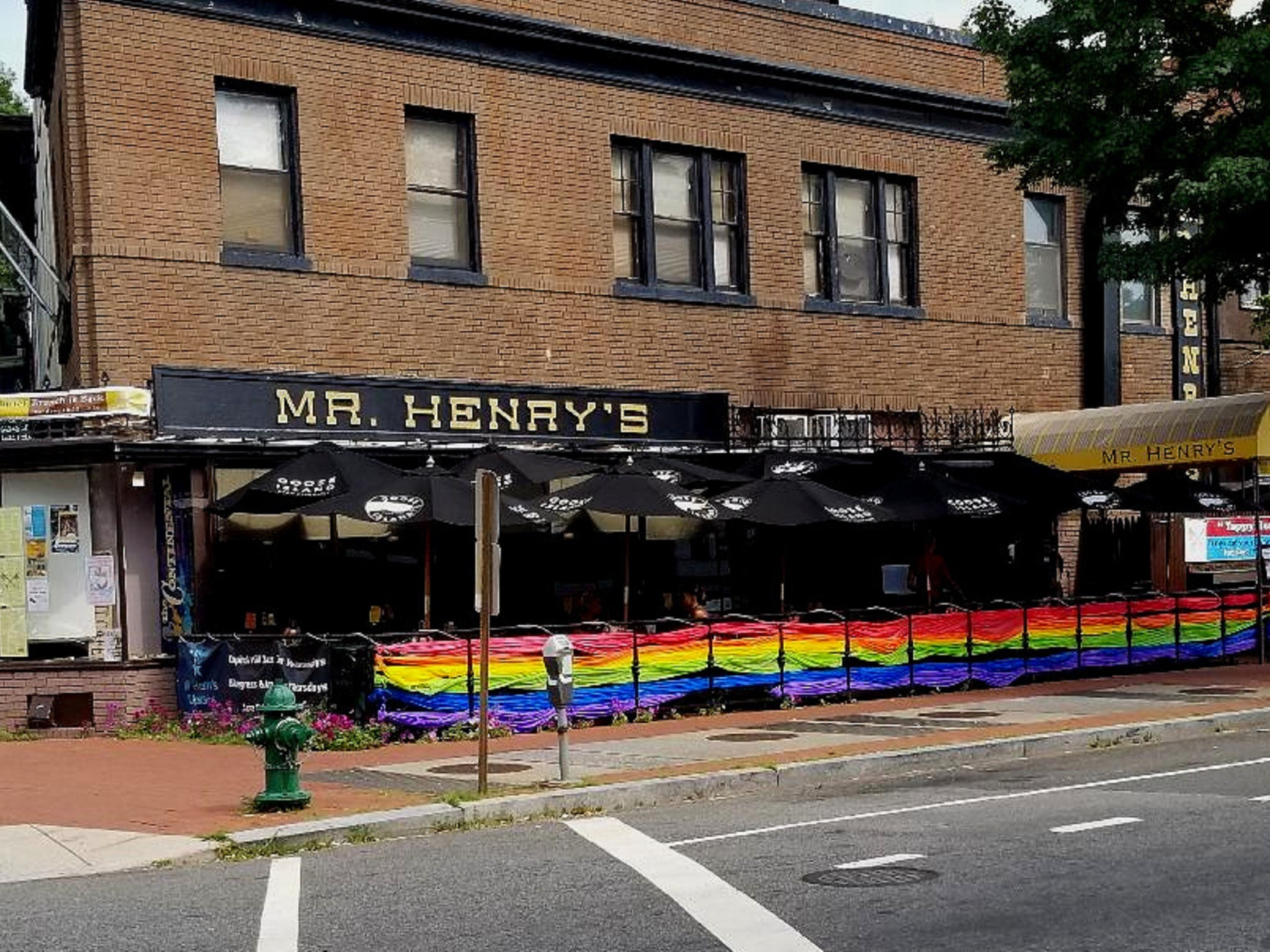 The outside of Mr. Henry's
