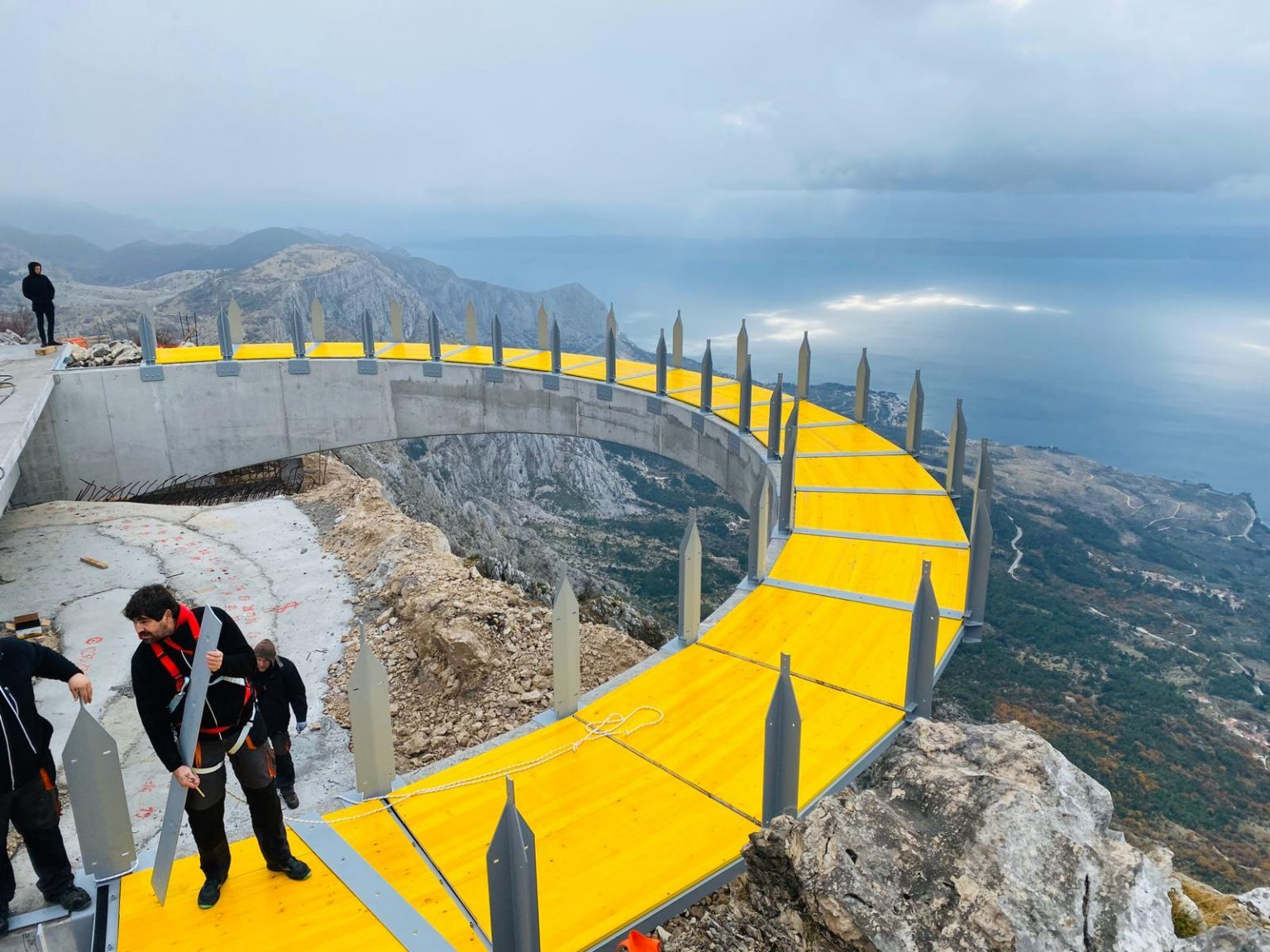 Video: first views of the finished sky walk on Biokovo mountain