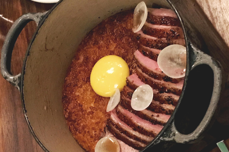 Majordomo LA duck crispy rice