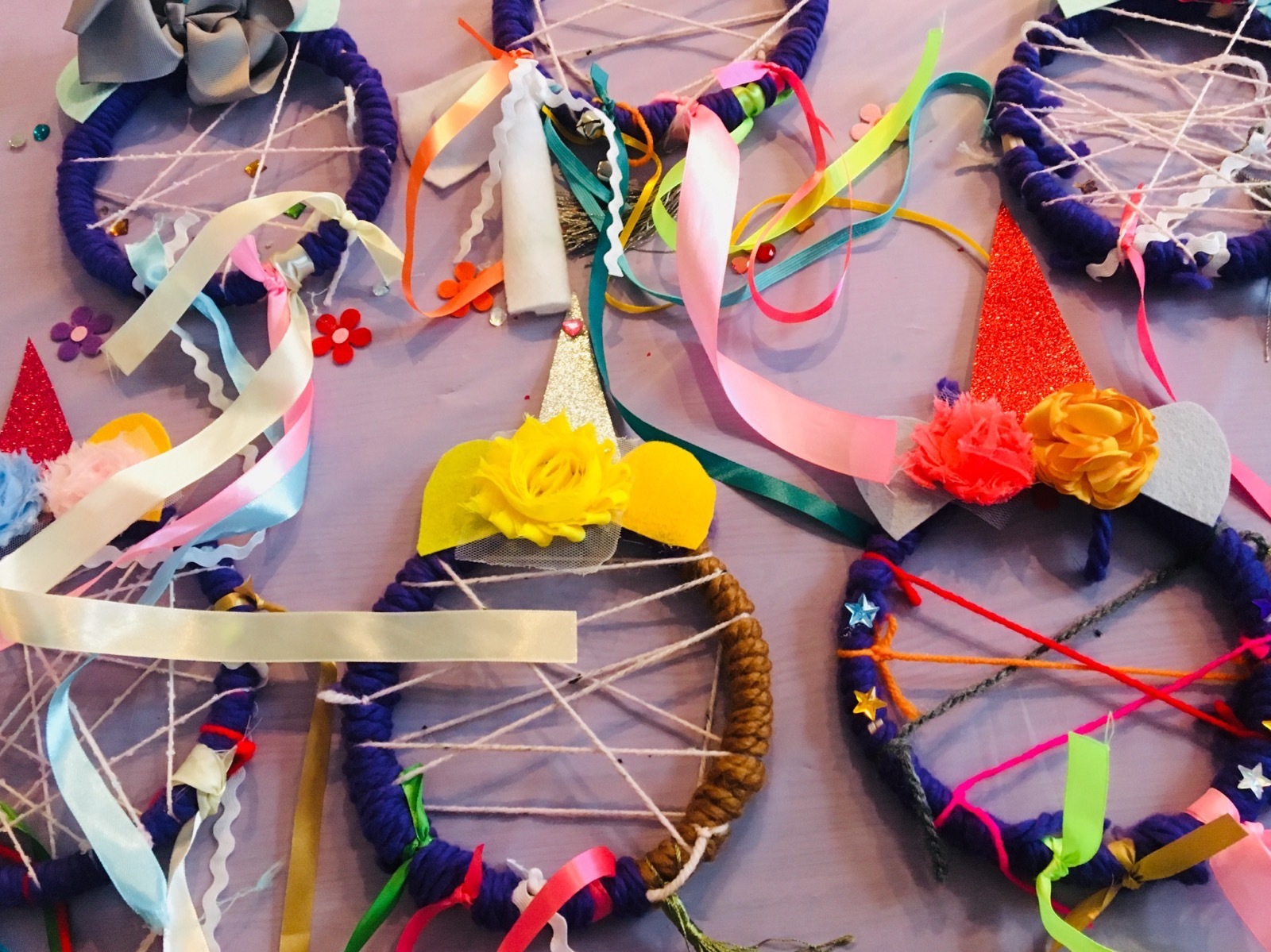 Unicorn Dreamcatcher Class at Time Out Market New York