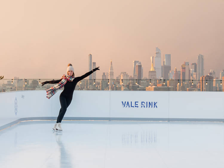 """New rooftop """"ice"""" skating rink at the William Vale"""