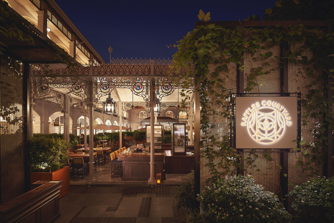 Join us at the exclusive opening party of the newly restored Raffles Courtyard