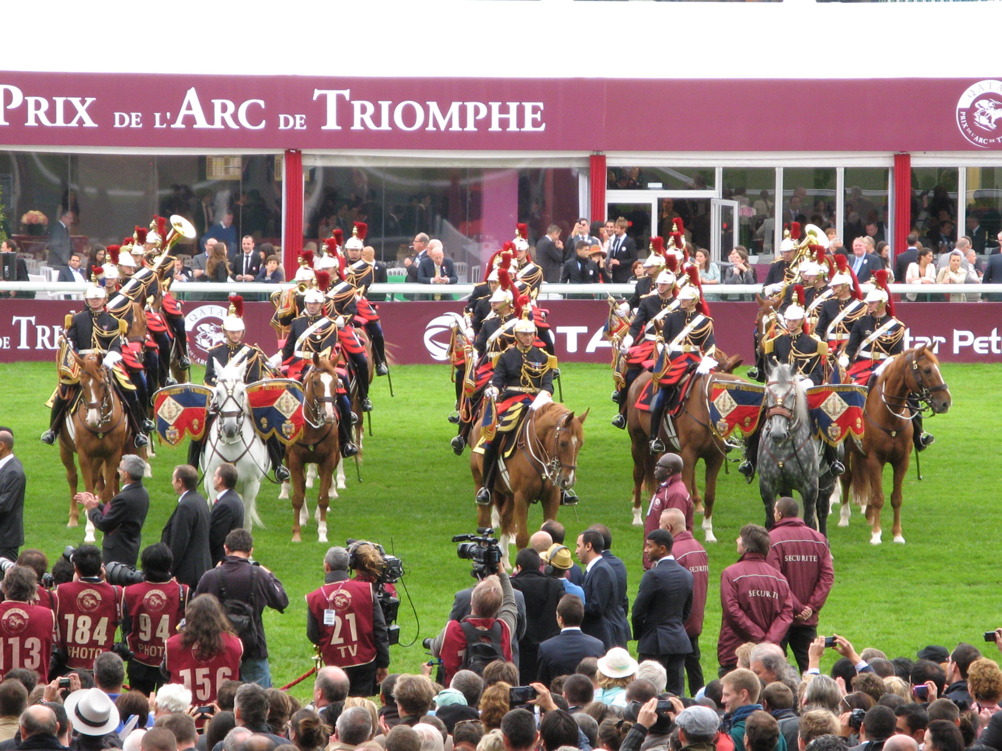 Arc de Triomphe horse race at the Hippodrome de Longchamp