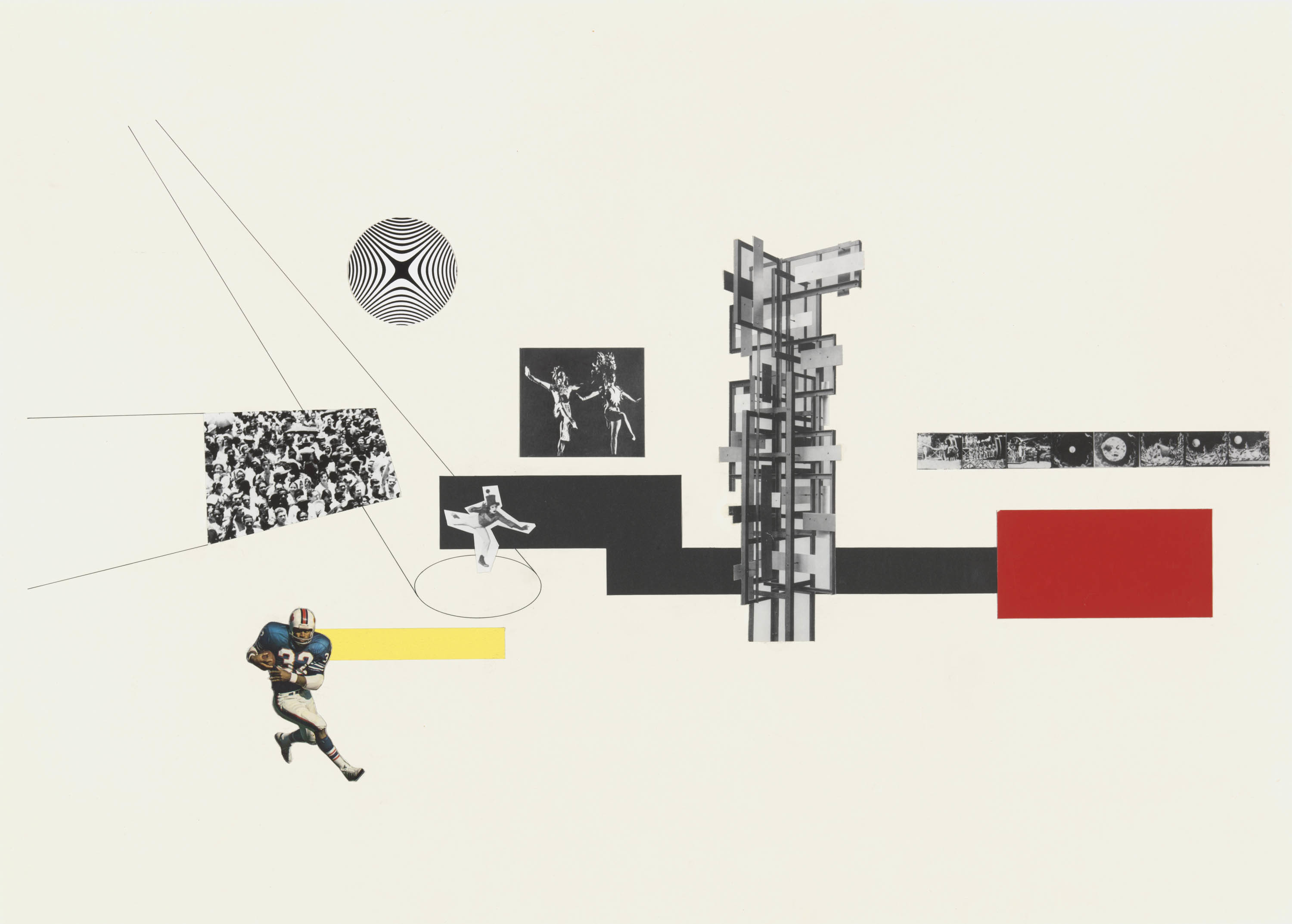 Reginald Malcolmson. Hall of Sport and Culture, Collage, 1971/74.