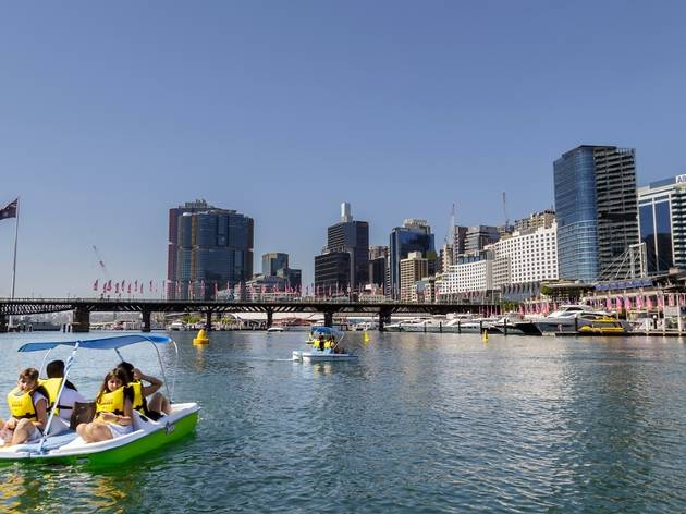 Pedal Boats in Darling Harbour
