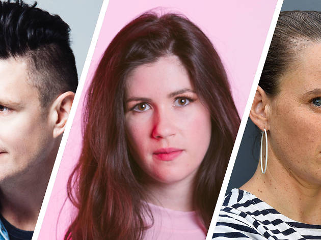 Wil Anderson, Becky Lucas and Zoe Coombs Marr
