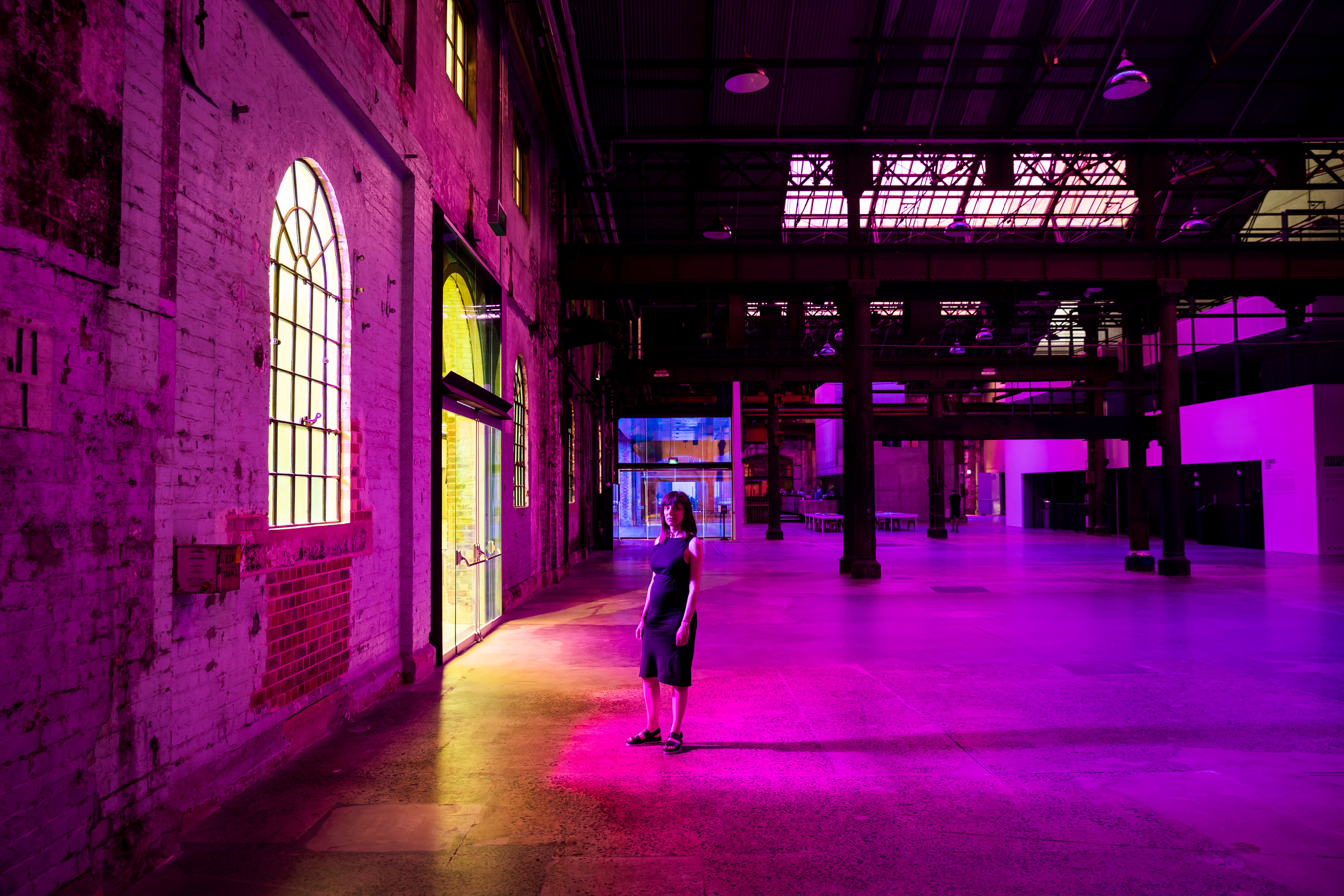 Carriageworks has been turned into a colourful kaleidoscope thanks to this 100-metre artwork