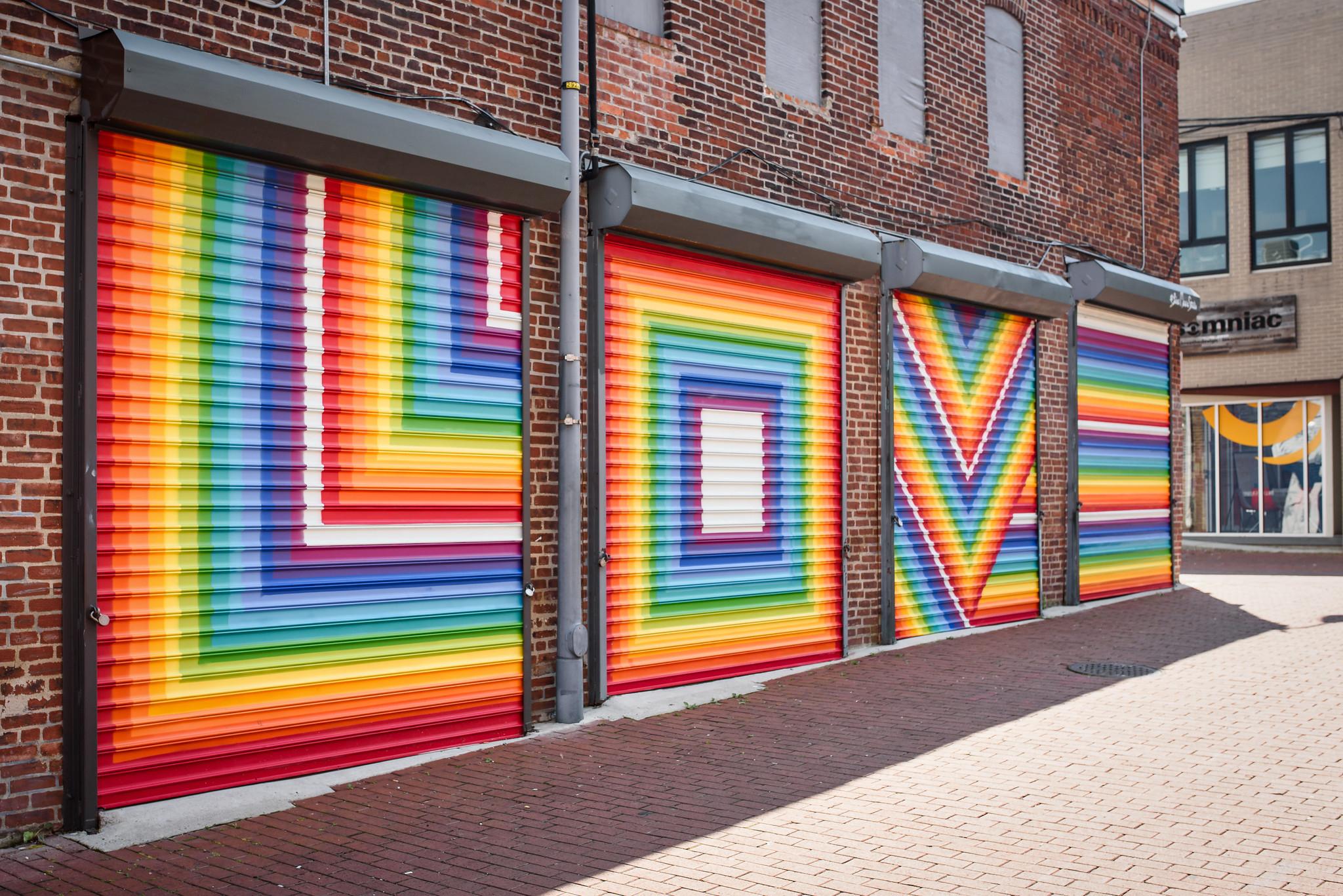 Blagden Alley, Love mural