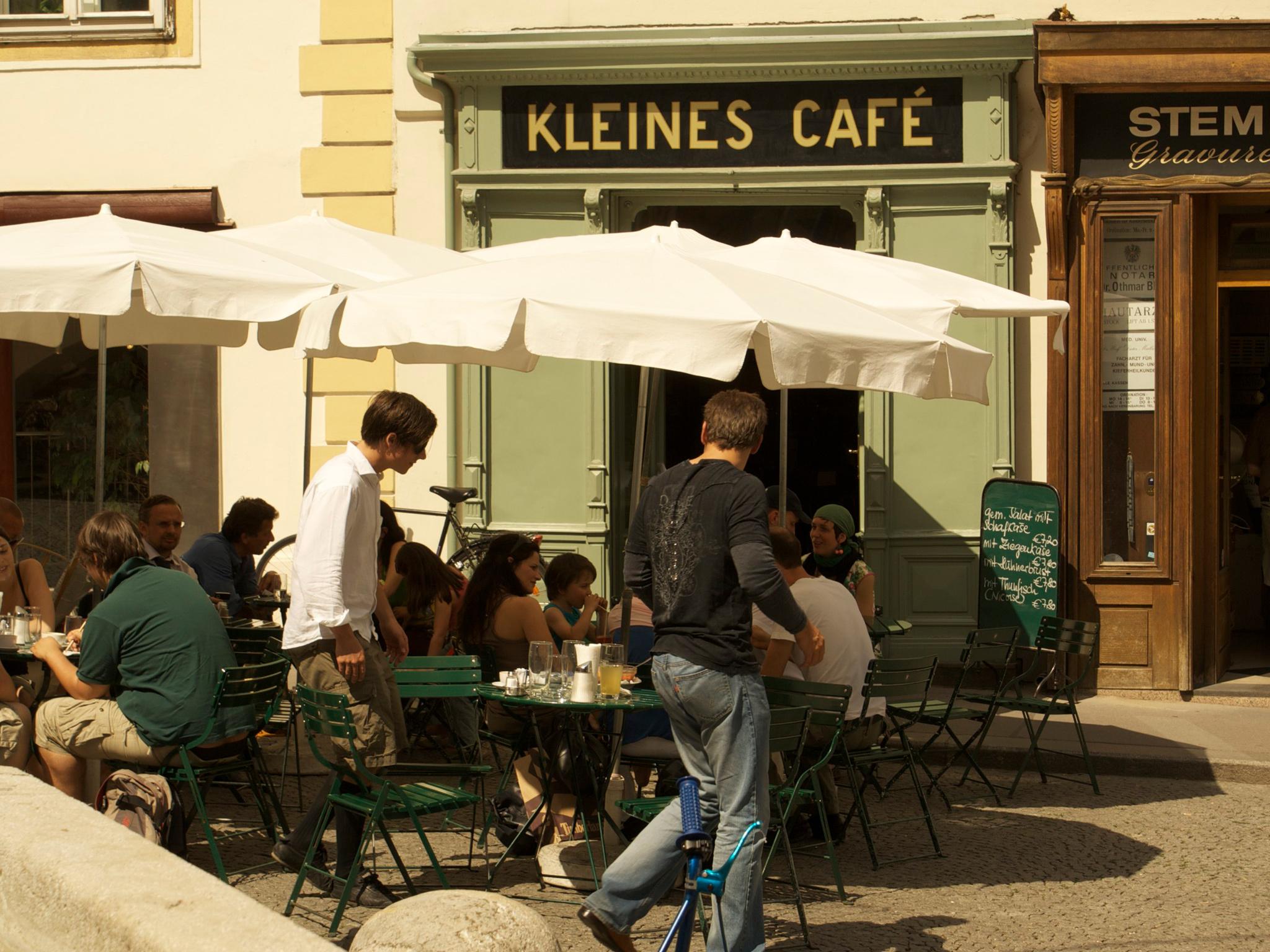 Kleines Café in Vienna