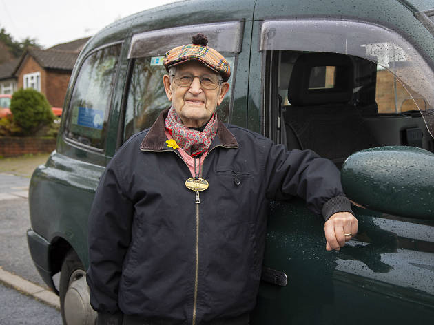 Alec Curtis is London's oldest black-cab driver