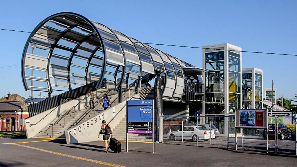 Outside of Footscray Station