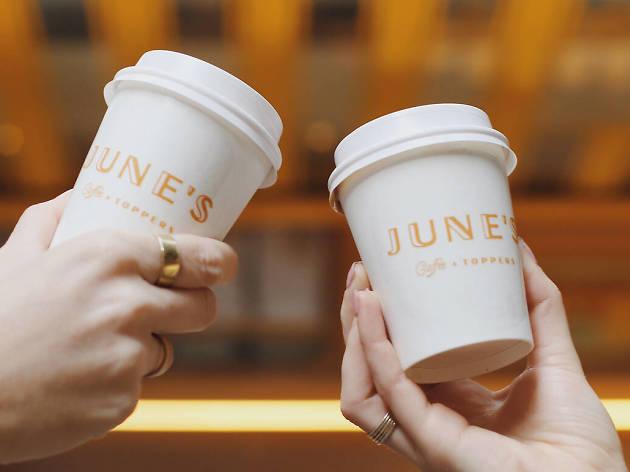 June's Shoppe takeaway coffee