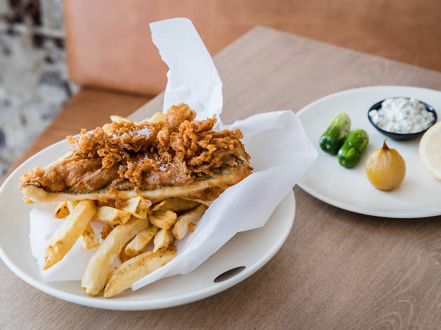 Fish and Chips fundraiser at Vue de Monde
