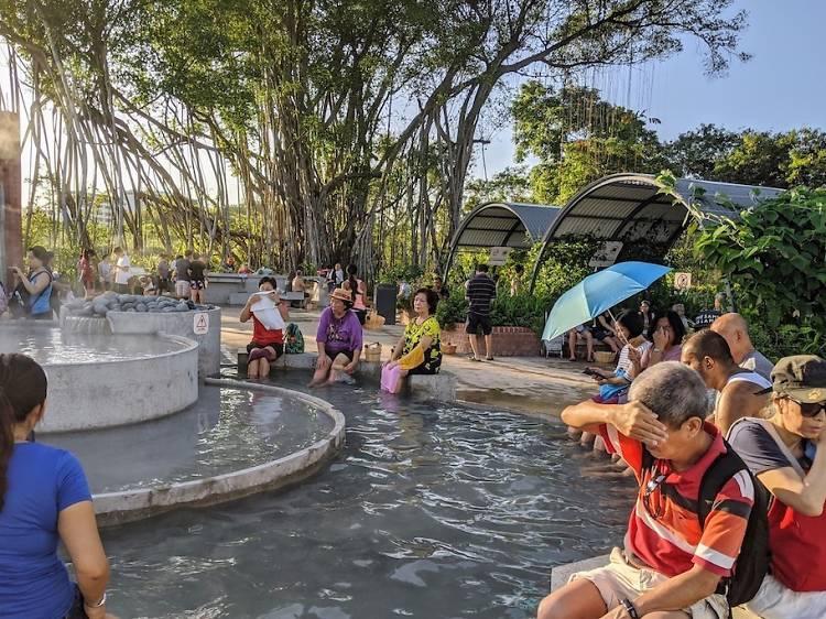 Soak your feet at the Sembawang Hot Spring
