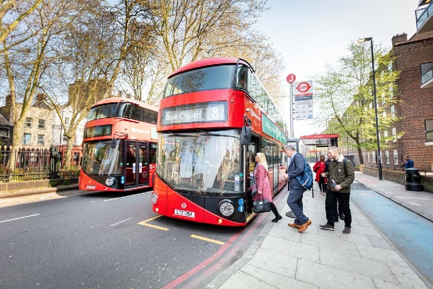 You can board London buses from the front again