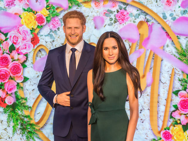 Megan Markle and Prince Harry at Madame Tussauds