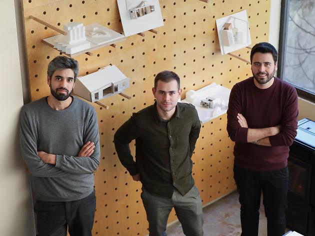 Os arquitectos João Crisóstomo, Luís Sobral e Carlos Azevedo são os três sócios do depA
