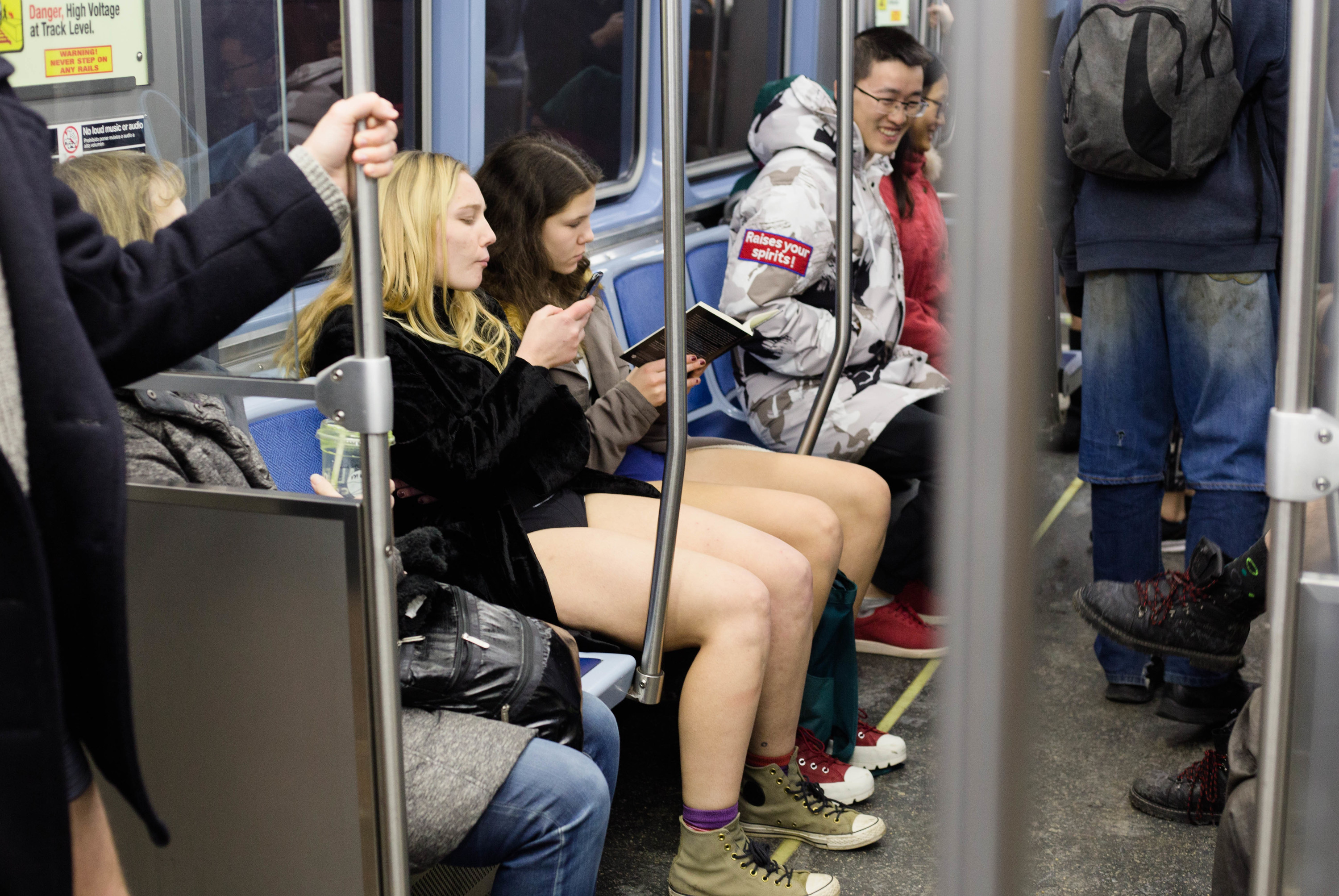 Photos from Chicago's No Pants Subway Ride