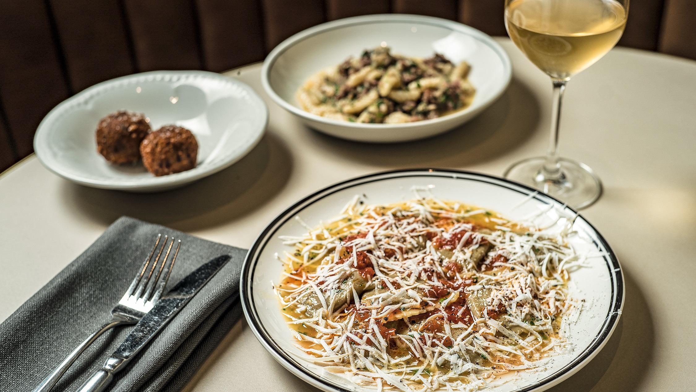 Food options on table at Ragazzi