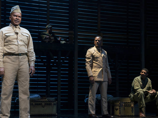 David Alan Grier, Blair Underwood and Billy Eugene Jones in A SOLDIER'S PLAY