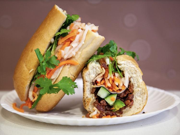 The $6.25 BBQ pork bánh mì at Bánh Mì Saigon