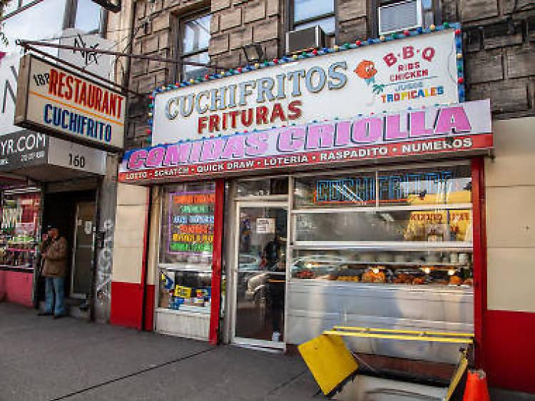 The $2 morcilla at 188 Bakery Cuchifritos