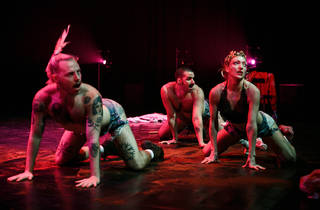 Performers on stage at Triple Threat Sydney Festival