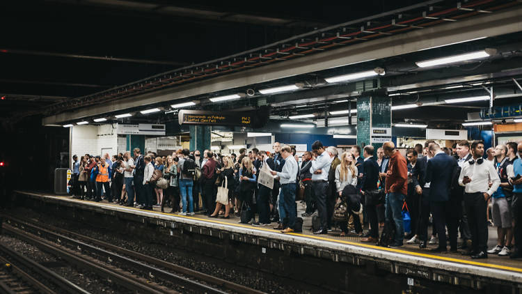 Busy tube platform