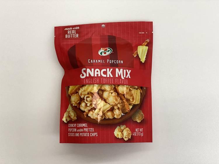 Caramel popcorn snack mix ($3.90)