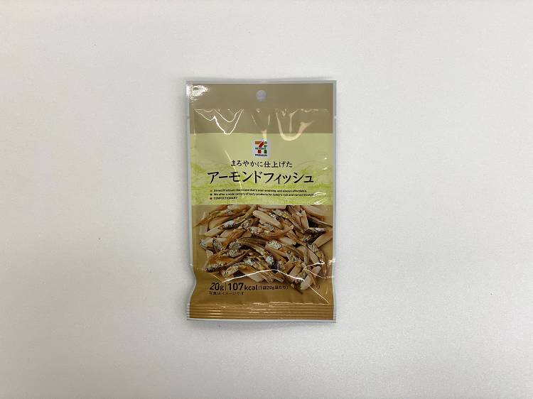 Almond and dried fish snack ($1.80)