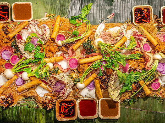 This plant-based kamayan feast at Made Hotel is a tropical oasis