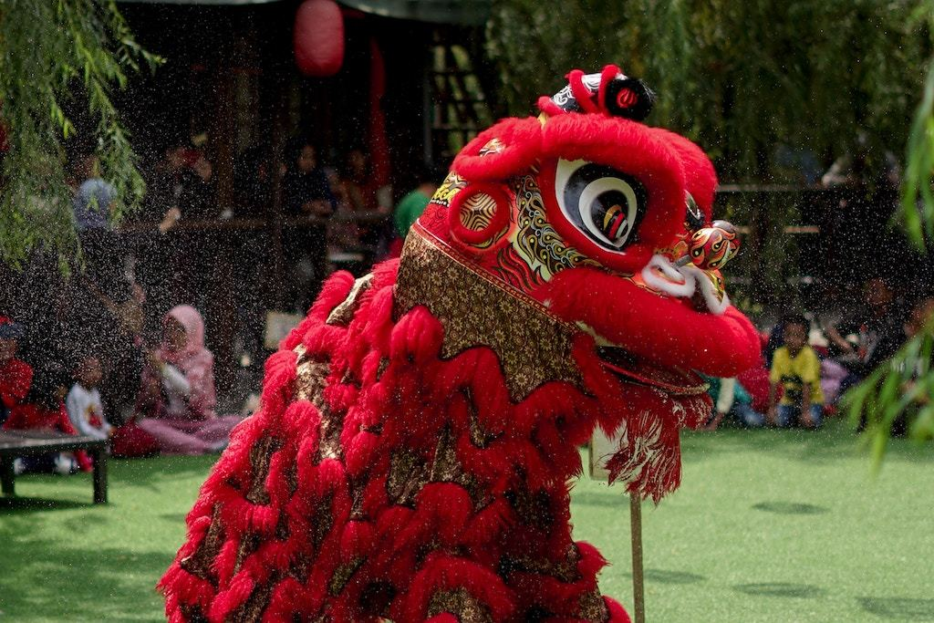 lion dance, chinese new year