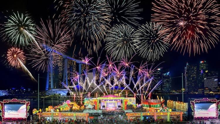 Kemeriahan perayaan imlek di Singapura