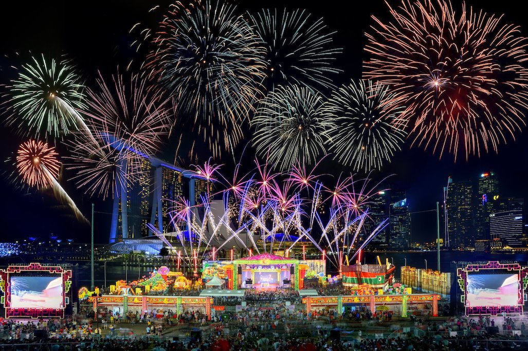 Where to watch Chinese New Year fireworks in Singapore
