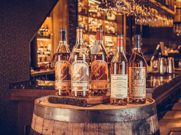 Pappy Van Winkle Buffalo Trace Bourbon bottles