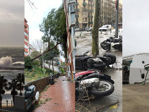 Temporal Gloria en Barcelona