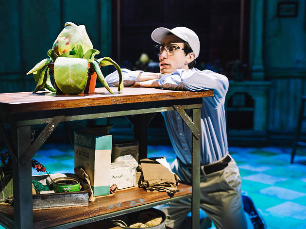 Gideon Glick as Seymour in LITTLE SHOP OF HORRORS