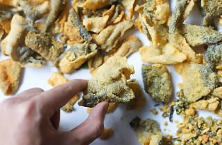 salted egg fish skin snacks