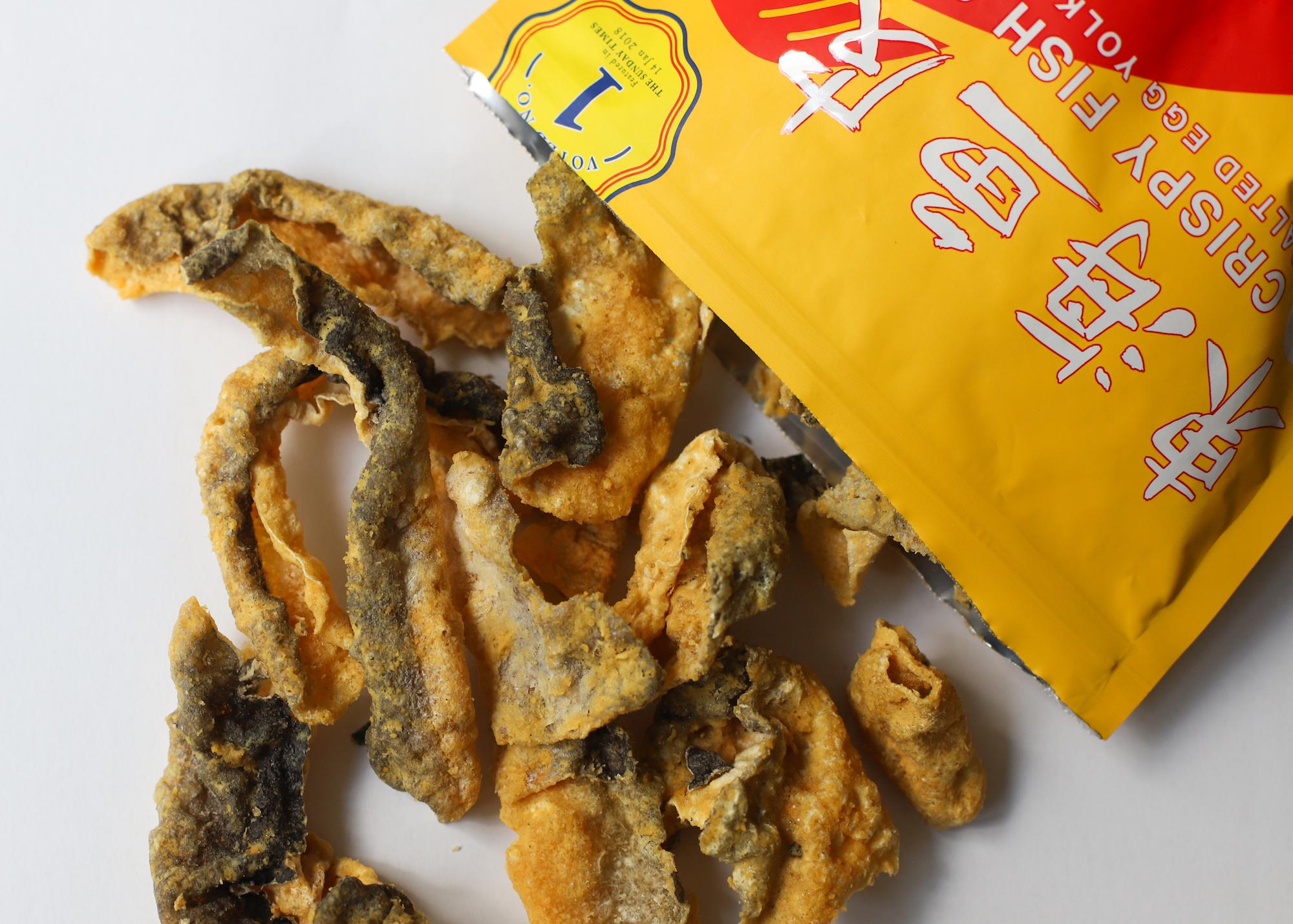 east ocean salted egg fish skin snack
