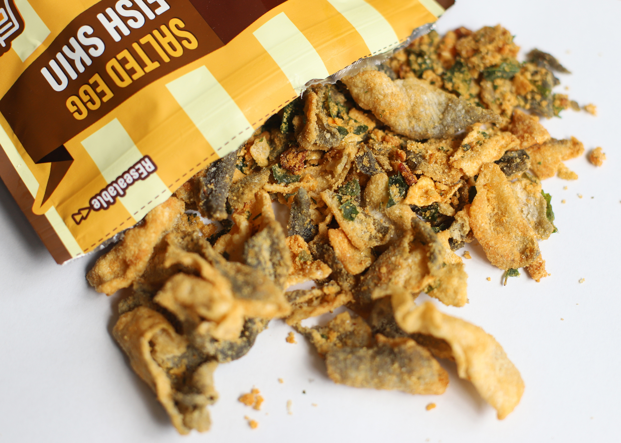 crusty's salted egg fish skin snack
