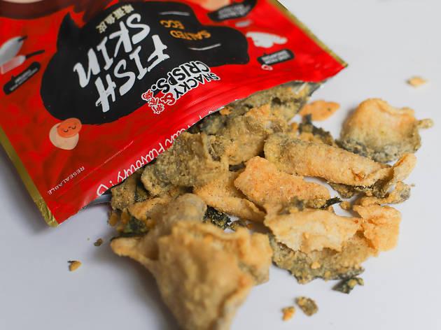 Snacky & Crisps salted egg fish skin snack