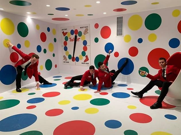 This gigantic game of Twister is the size of a room