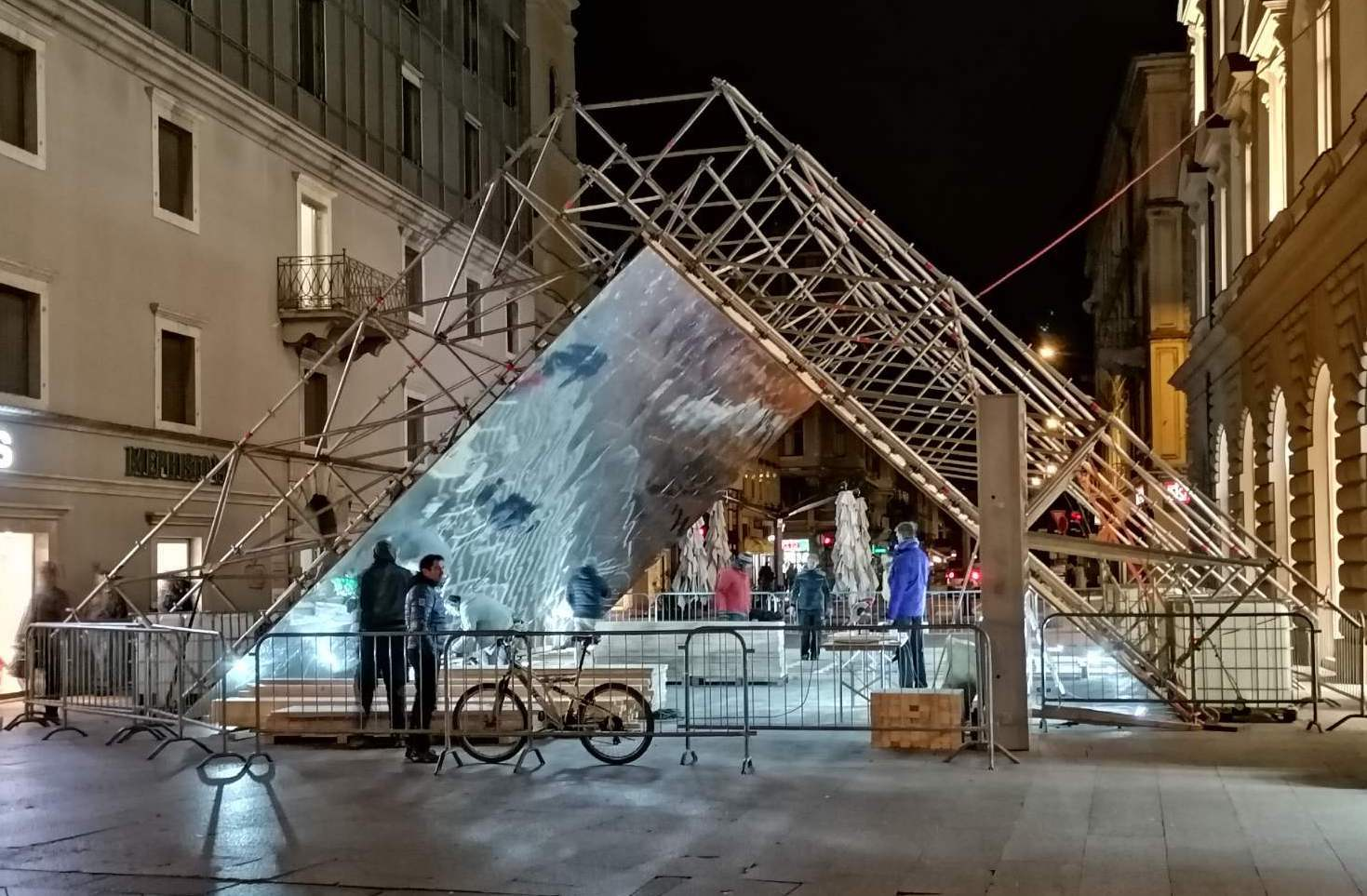 Pictures: a huge walk-through kaleidoscope is being built on Rijeka's Korzo