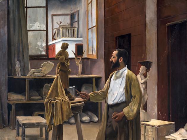 'Clarasó al seu taller', de Santiago Rusiñol