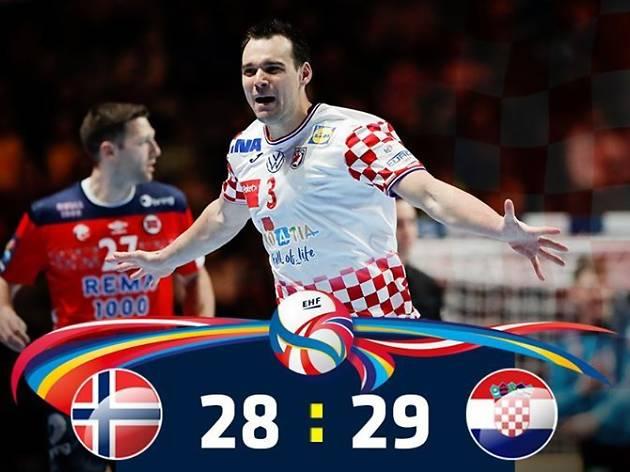 Croatia reach the final of European Handball Championship after thrilling semi-final