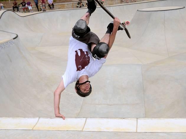 Tony Hawk on a skateboard