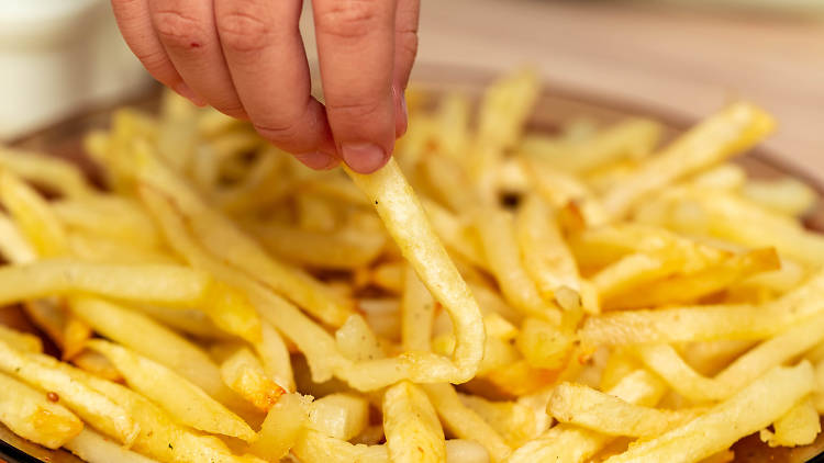 French fries in a plate