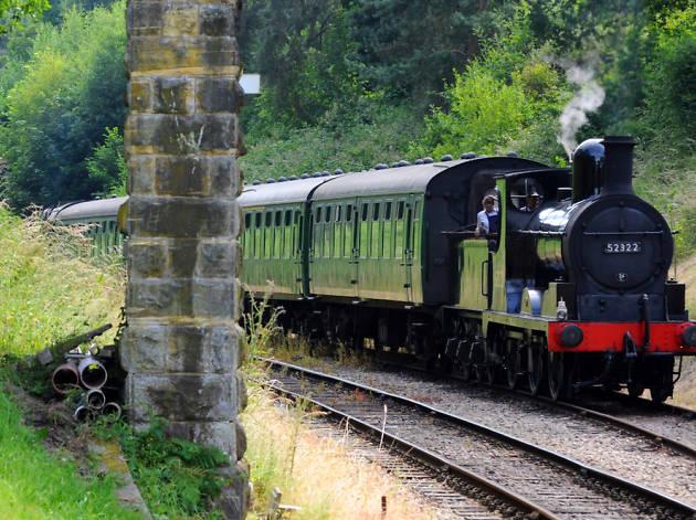 Steam train pulling into Tunbridge Wells